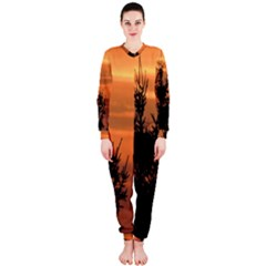 Christmas tree and sunset OnePiece Jumpsuit (Ladies)  by picsaspassion