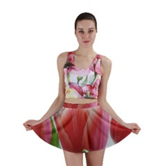 Red Tulips Mini Skirt by picsaspassion