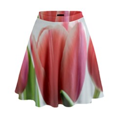 Red Tulips High Waist Skirt by picsaspassion