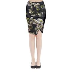 Japanese cherry flower Midi Wrap Pencil Skirt by picsaspassion