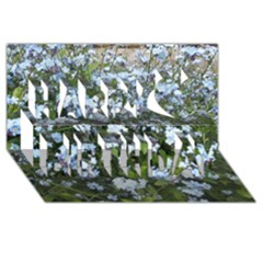 Blue Forget Me Not Flowers Happy Birthday 3d Greeting Card (8x4) by picsaspassion