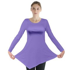Lilac   Purple Color Design Long Sleeve Tunic  by picsaspassion