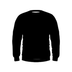 Black Color Design Kids  Sweatshirt