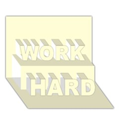 Yellow color design WORK HARD 3D Greeting Card (7x5) by picsaspassion