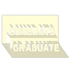 Yellow Color Design Congrats Graduate 3d Greeting Card (8x4) by picsaspassion