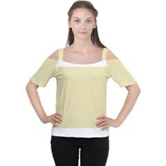 Gold Yellow Color Design Women s Cutout Shoulder Tee by picsaspassion