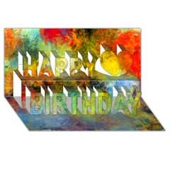 Lagoon Happy Birthday 3d Greeting Card (8x4) by theunrulyartist