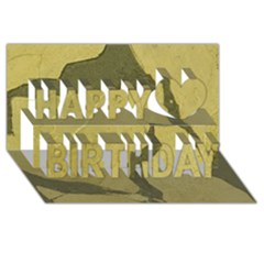 Stylish Gold Stone Happy Birthday 3d Greeting Card (8x4) by yoursparklingshop