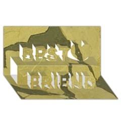 Stylish Gold Stone Best Friends 3d Greeting Card (8x4) by yoursparklingshop