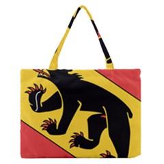 Flag Of Canton Of Bern Medium Zipper Tote Bag by abbeyz71