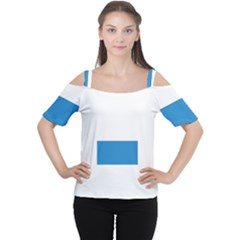 Flag Of Canton Of Lucerne Women s Cutout Shoulder Tee by abbeyz71
