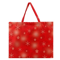 Red Xmas Desing Zipper Large Tote Bag by Valentinaart