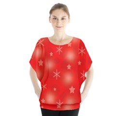 Red Xmas Desing Blouse by Valentinaart