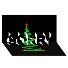 Simple Xmas Tree Sorry 3d Greeting Card (8x4) by Valentinaart