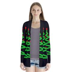 Simple Xmas Tree Drape Collar Cardigan by Valentinaart
