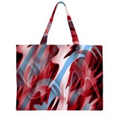 Blue and red smoke Large Tote Bag by Valentinaart