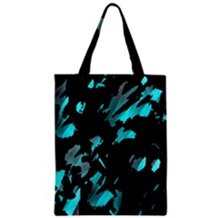 Painter Was Here   Cyan Zipper Classic Tote Bag by Valentinaart