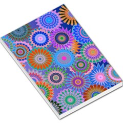 Funky Flowers B Large Memo Pads by MoreColorsinLife