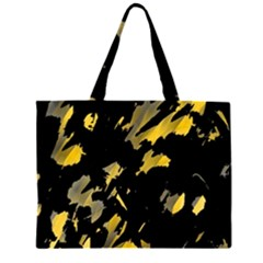 Painter was here - yellow Large Tote Bag by Valentinaart