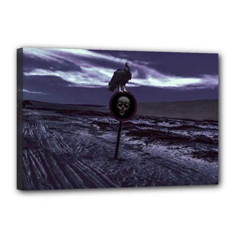 Death Road Dark Scene Canvas 18  X 12  by dflcprints