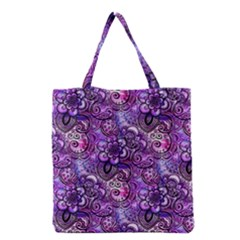 Purple Paisley Visions  Grocery Tote Bag by KirstenStar