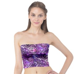 Purple Paisley Visions  Tube Top by KirstenStar