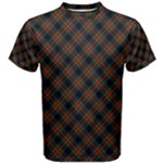 Sargent - Stewart Black Tartan Men s T Shirt - Men s Cotton Tee