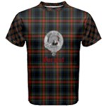 Men s Sargent - Stewart Black Tartan With Crest - Men s Cotton Tee