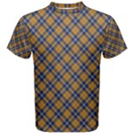 Sargent - Orange & Blue Tartan Men s T Shirt - Men s Cotton Tee