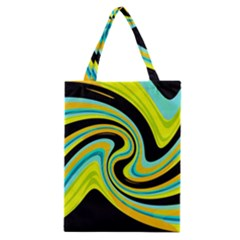 Blue And Yellow Classic Tote Bag by Valentinaart