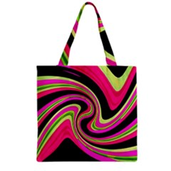 Magenta And Yellow Grocery Tote Bag by Valentinaart