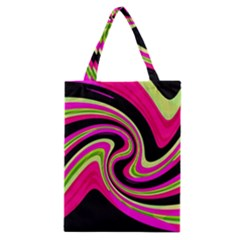 Magenta And Yellow Classic Tote Bag by Valentinaart