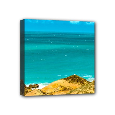 Dunes And Ocean Jericoacoara Brazil Mini Canvas 4  X 4  by dflcprints