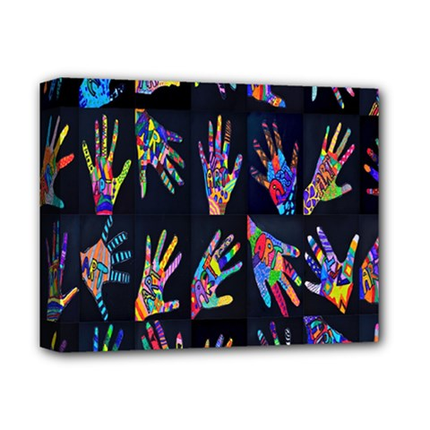 Art With Your Hand Deluxe Canvas 14  X 11  by AnjaniArt
