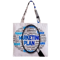 Article Market Plan Zipper Grocery Tote Bag by AnjaniArt