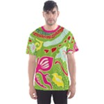 Green Organic Abstract Men s Sport Mesh Tee