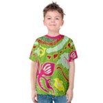 Green Organic Abstract Kids  Cotton Tee