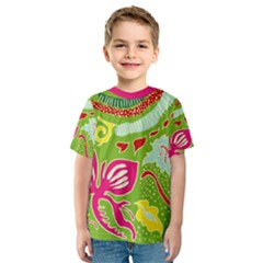 Green Organic Abstract Kids  Sport Mesh Tee by DanaeStudio