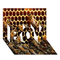 Bees On A Comb Boy 3d Greeting Card (7x5) by AnjaniArt