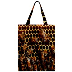 Bees On A Comb Zipper Classic Tote Bag by AnjaniArt