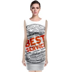 Best Service Classic Sleeveless Midi Dress by AnjaniArt