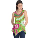 Green Organic Abstract Sleeveless Tunic