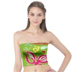 Green Organic Abstract Tube Top