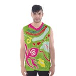 Green Organic Abstract Men s Basketball Tank Top