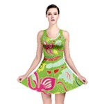 Green Organic Abstract Reversible Skater Dress