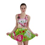 Green Organic Abstract Mini Skirt