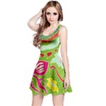 Green Organic Abstract Reversible Sleeveless Dress