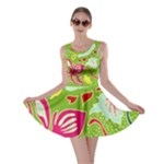 Green Organic Abstract Skater Dress