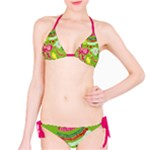 Green Organic Abstract Bikini
