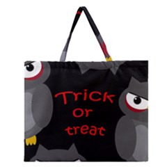 Trick Or Treat   Owls Zipper Large Tote Bag by Valentinaart